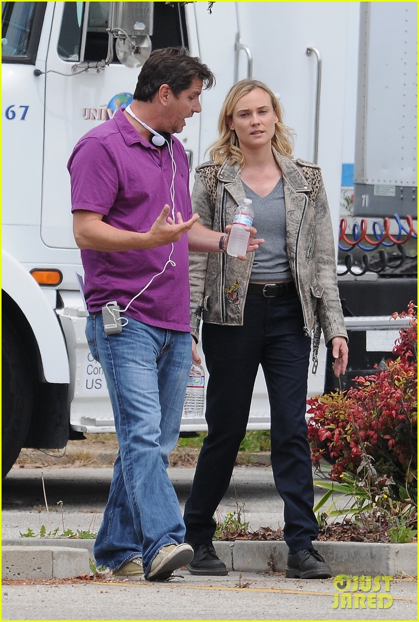 diane kruger gets direction on bridge set 103094509