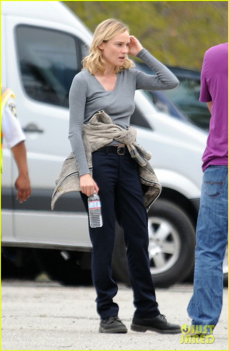 diane kruger gets direction on bridge set 183094517