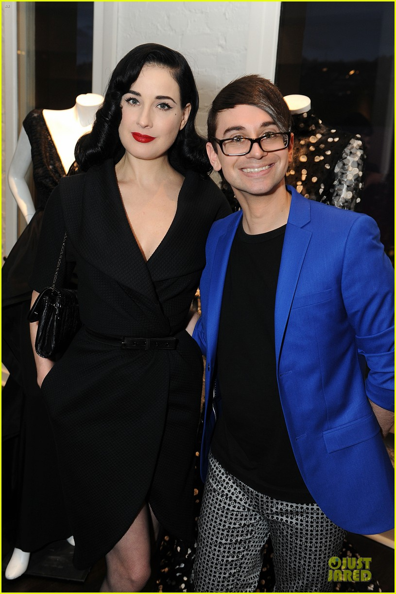 dita von teese glamour at christian siriano preview 043099581