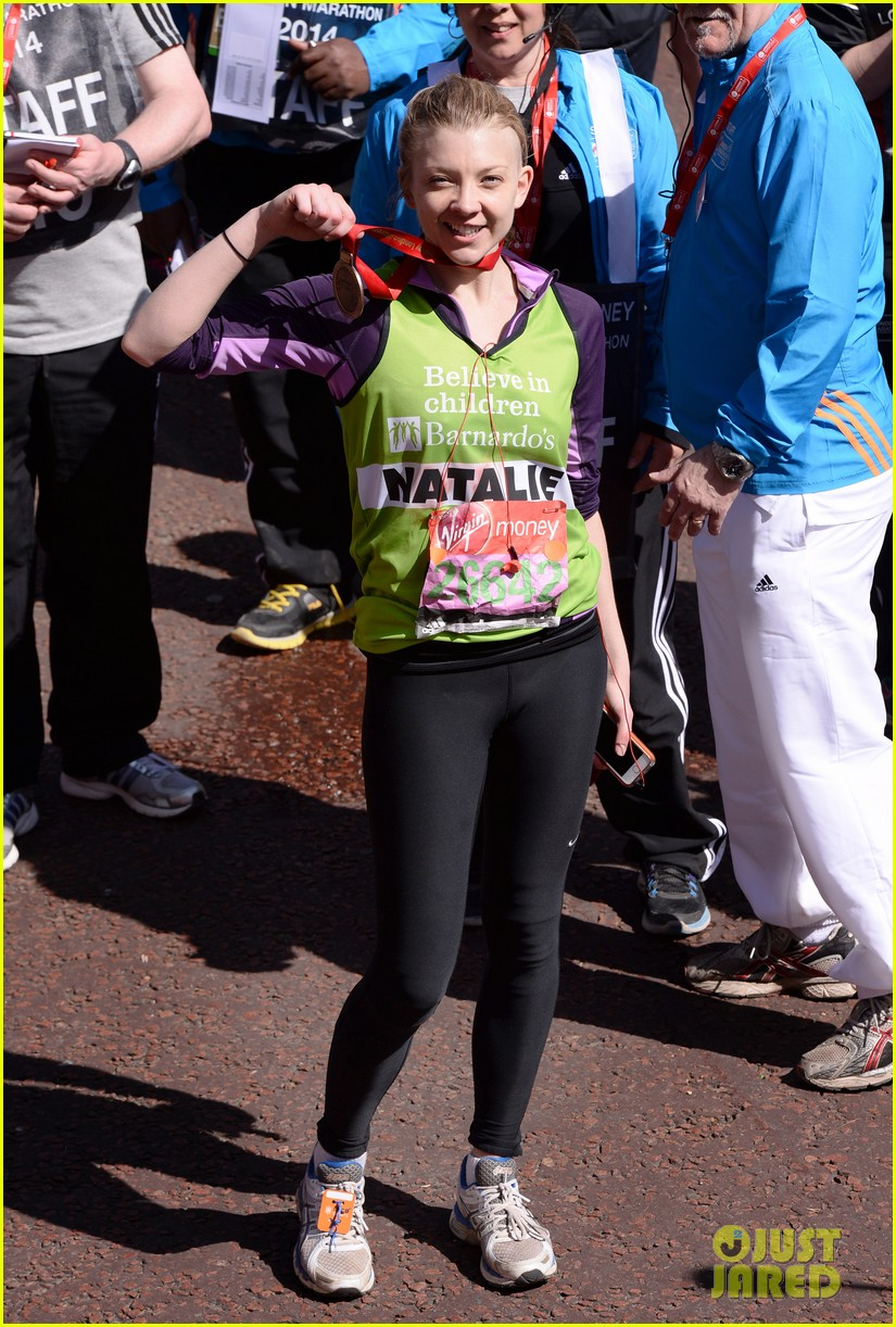 natalie dormer runs london marathon for charity 10