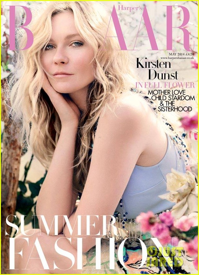 kirsten dunst covers harpers bazaar uk may 2014 01