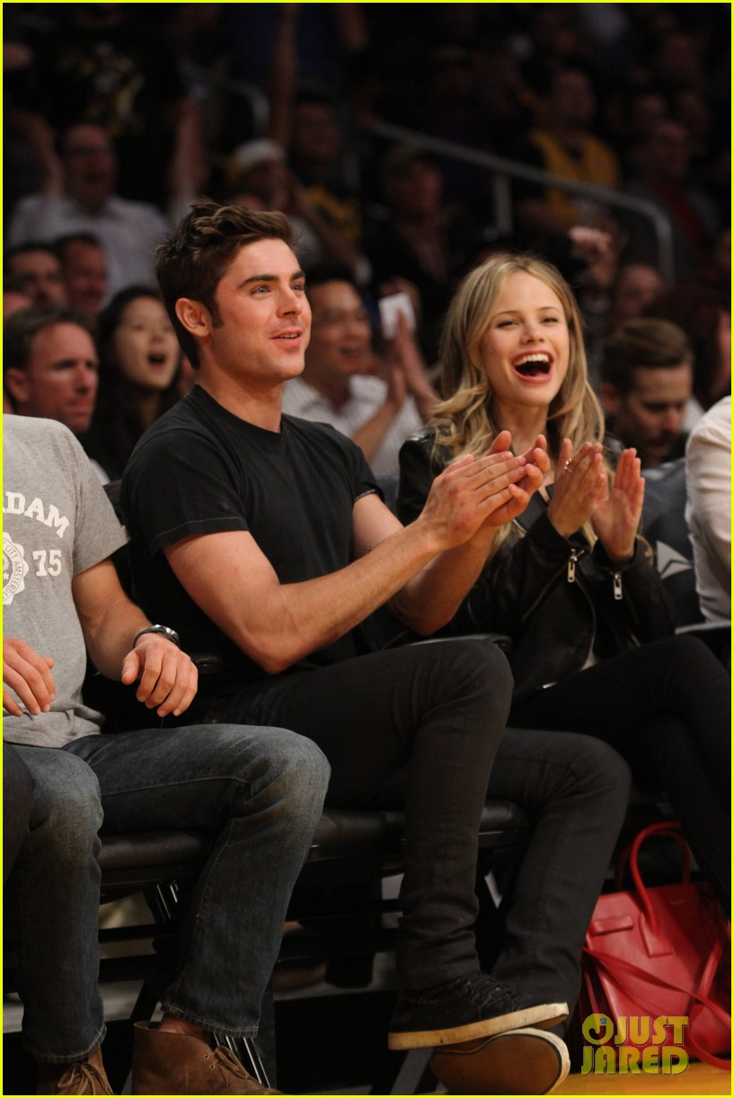 zac efron halston sage lakers game 17