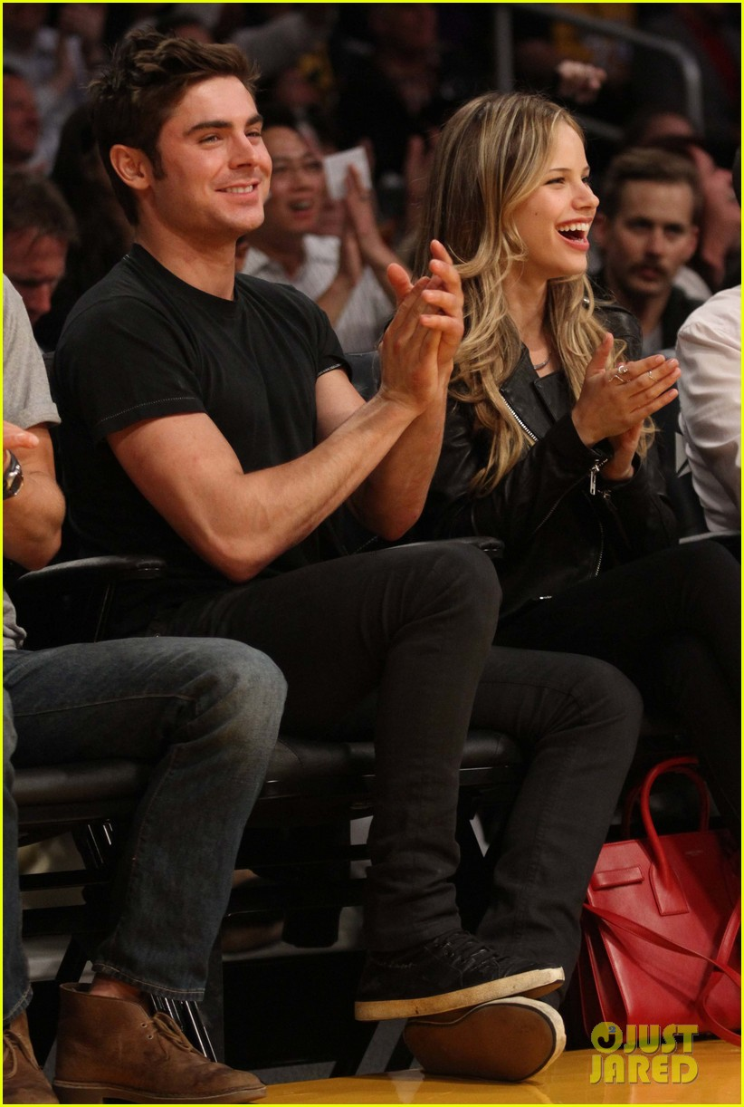 zac efron halston sage lakers game 18