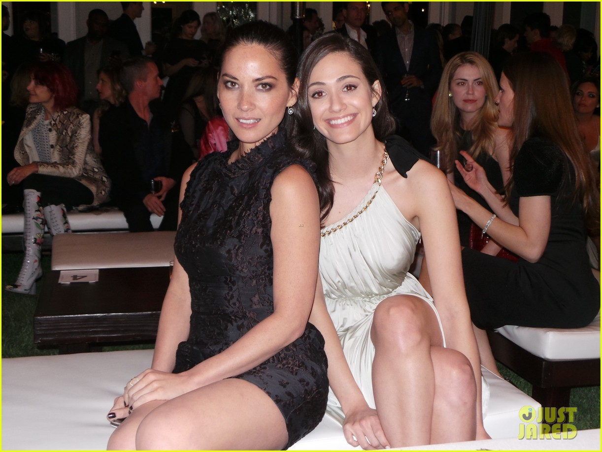 Photo of Emmy Rossum & her friend actress  Olivia Munn - Longtime