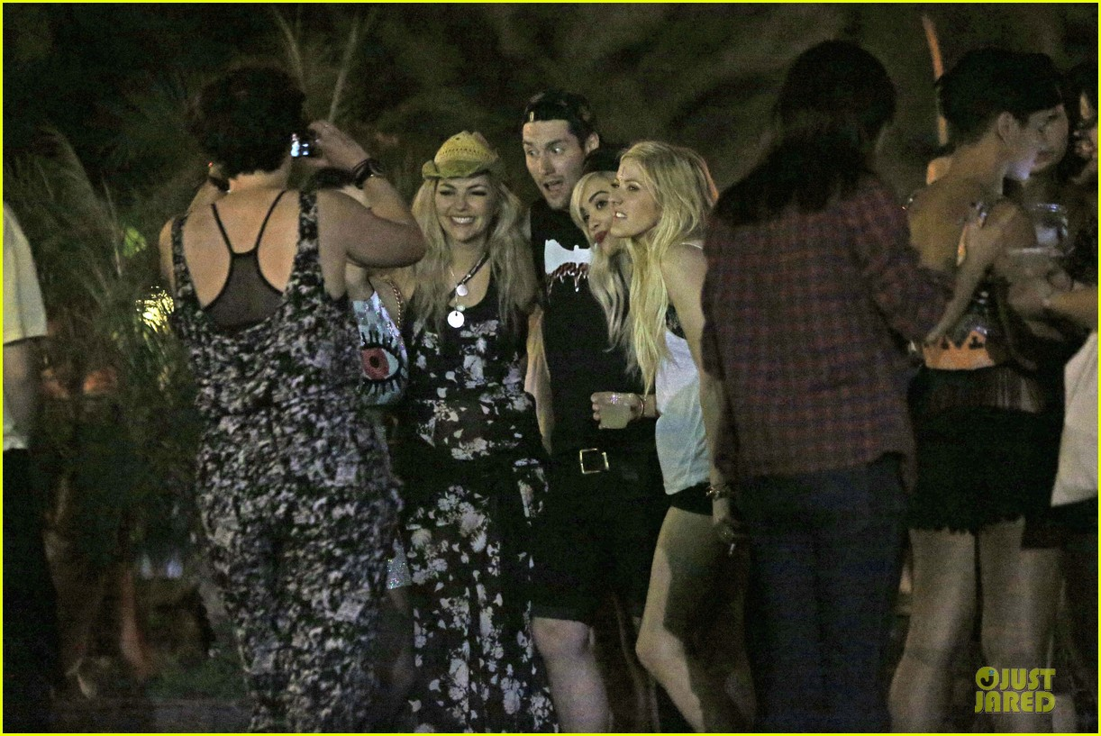 ellie goulding rita ora hang out at coachella 23