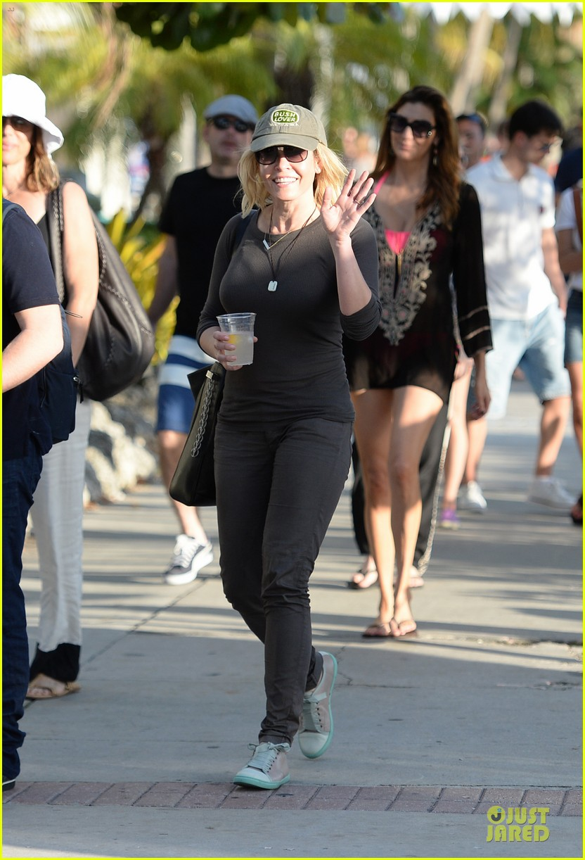 chelsea handler black bra in sheer top 05