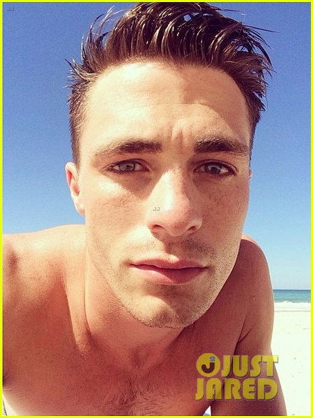 colton haynes giant pecs take over this shirtless pic 013099991