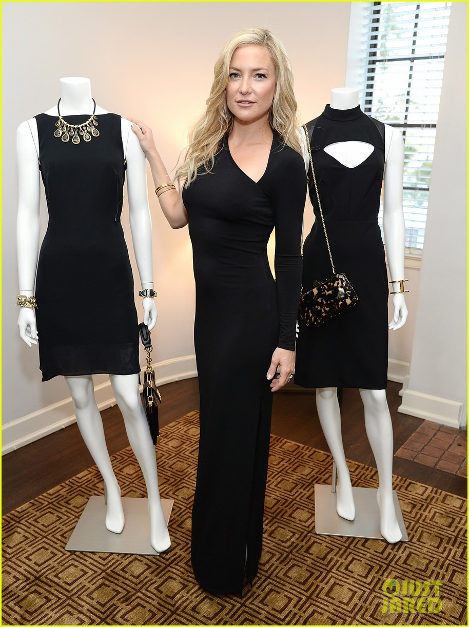 kate hudson sleek chic for anne taylor little black dress collection 01