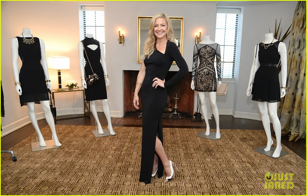 kate hudson sleek chic for anne taylor little black dress collection 08