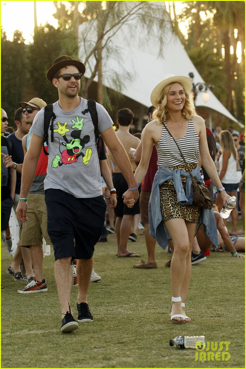 joshua jackson diane kruger inseparable at coachella 2014 053095603