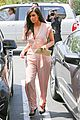 kim kardashian rocks pink jumpsuit with totally sheer back 17