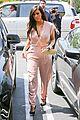 kim kardashian rocks pink jumpsuit with totally sheer back 28