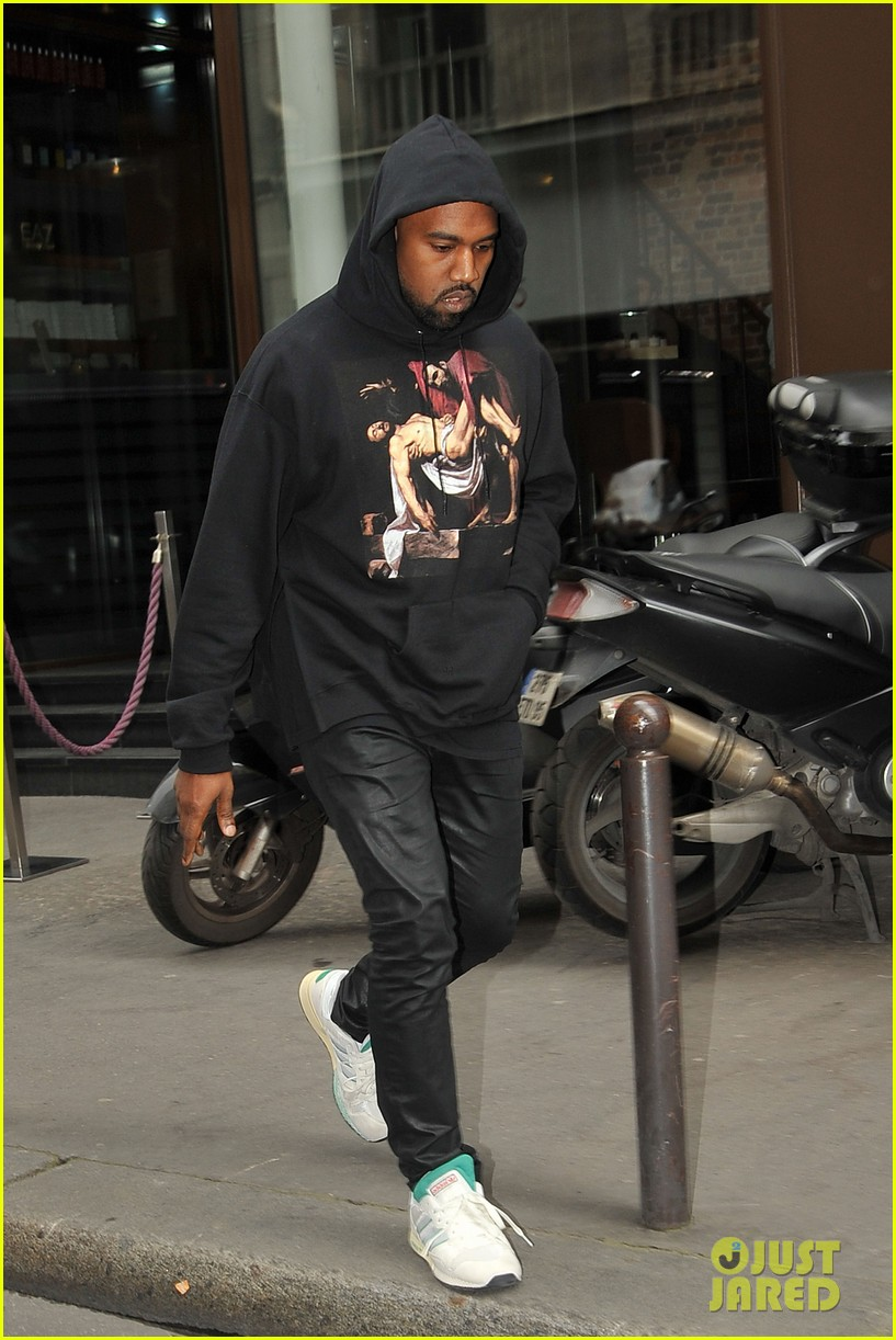kim kardashian kanye west work out have lunch in paris 06