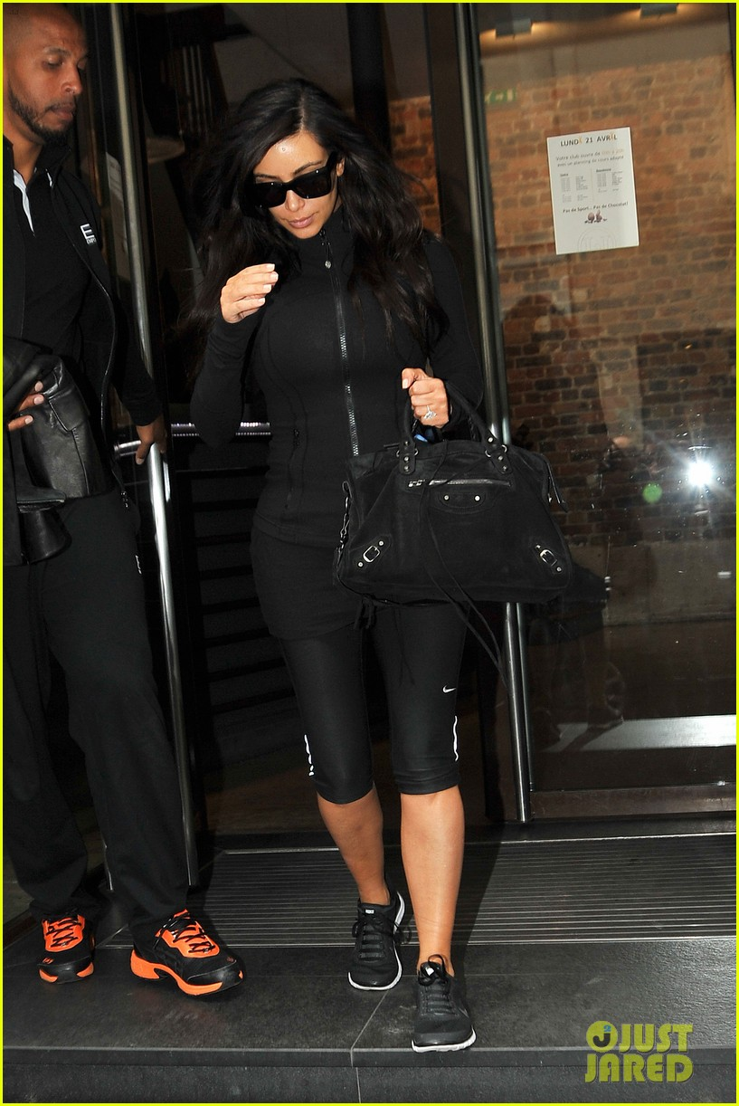 kim kardashian kanye west work out have lunch in paris 083091788