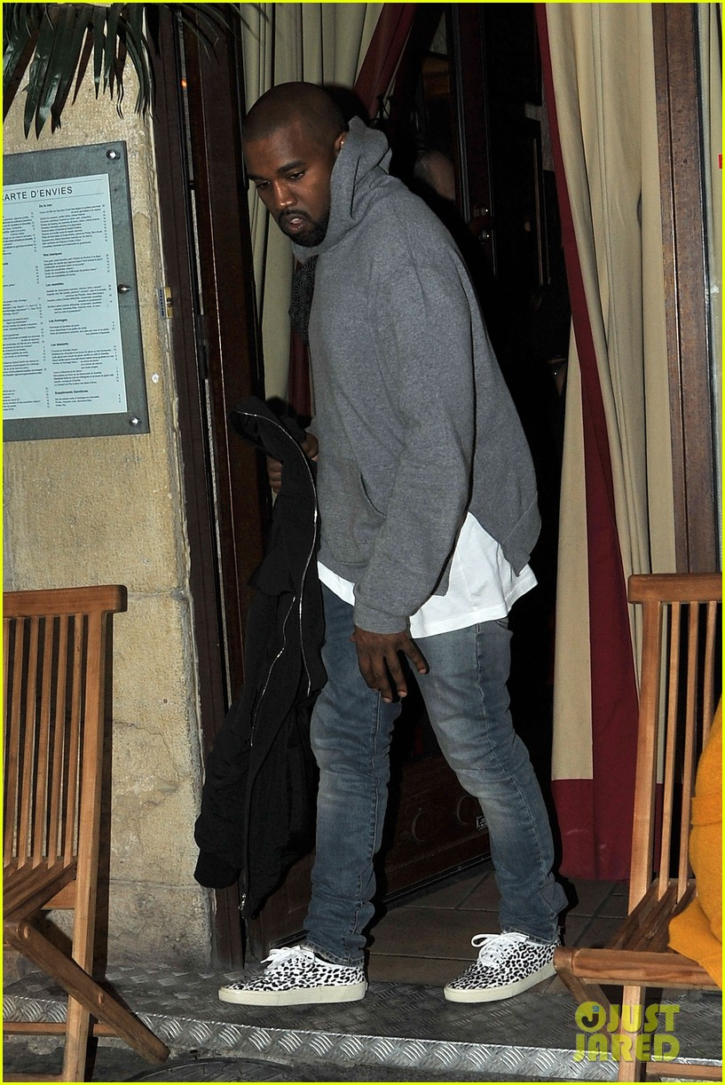 kim kardashian kanye west work out have lunch in paris 123091792