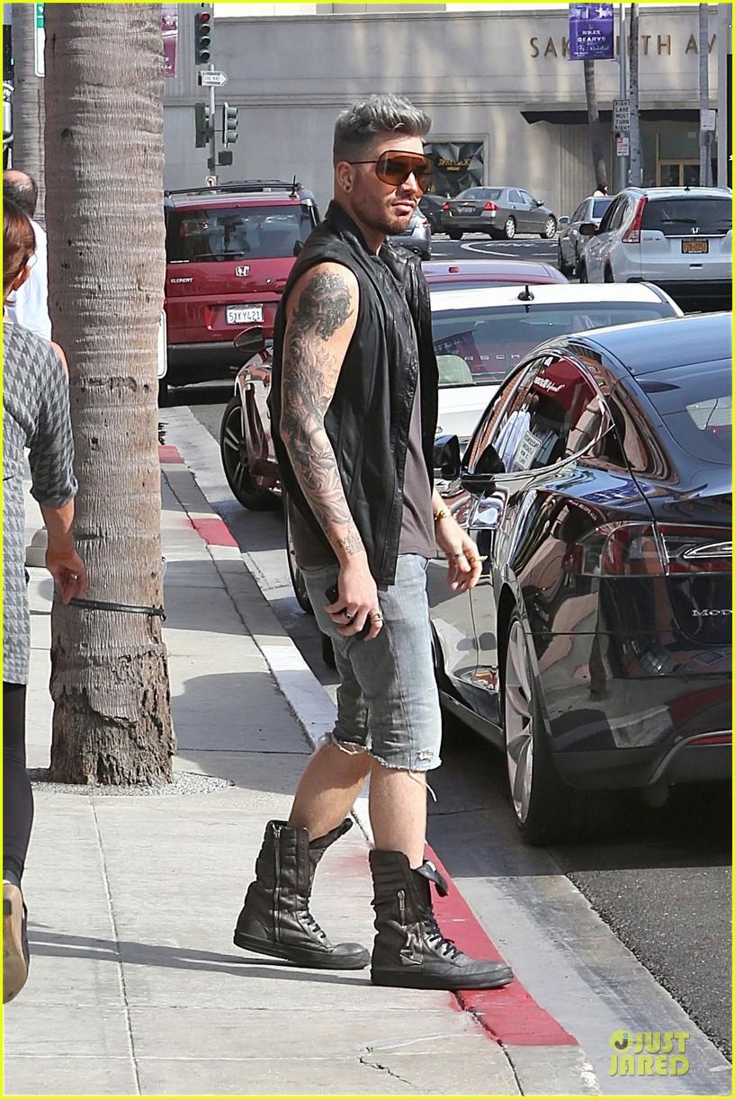 adam lambert tattooed guns sight you can miss 113096563