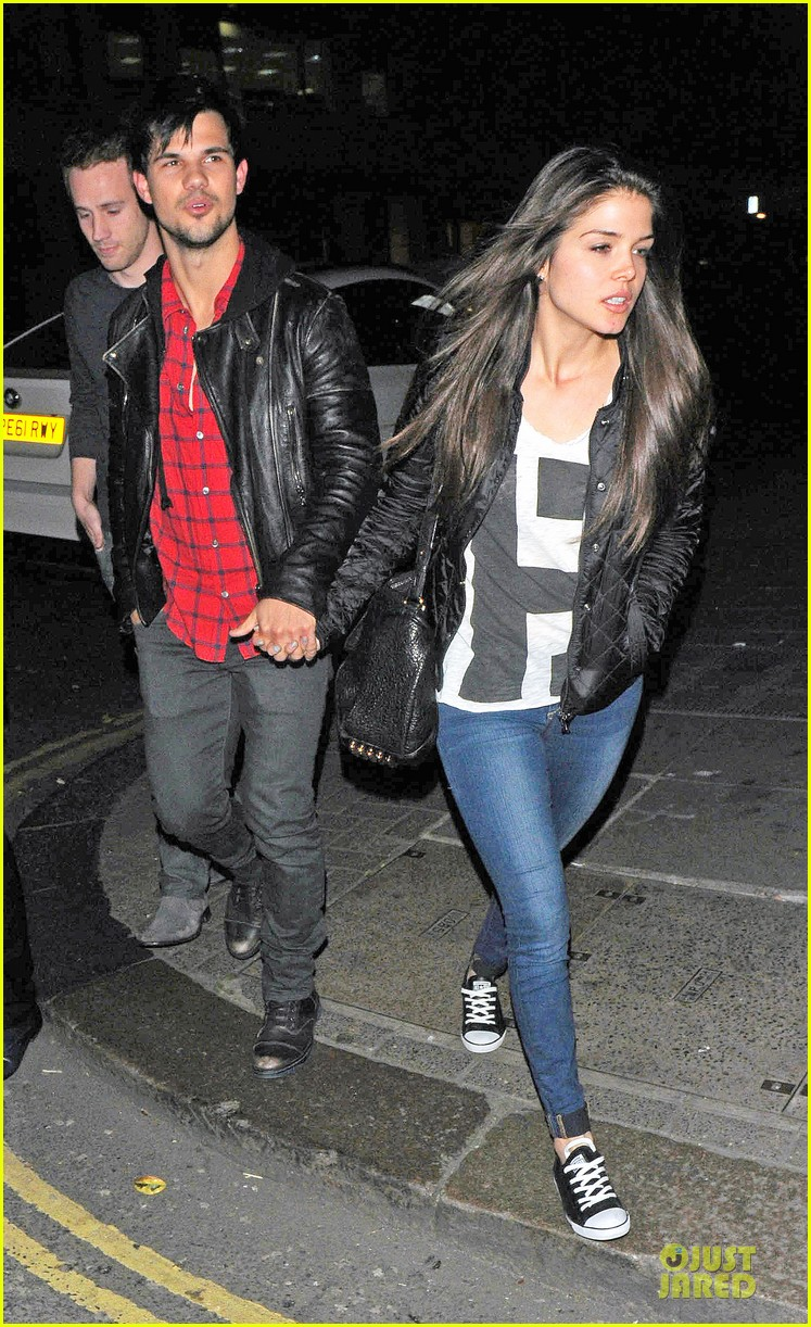 taylor lautner marie avgeropoulos inseparable london 173092541