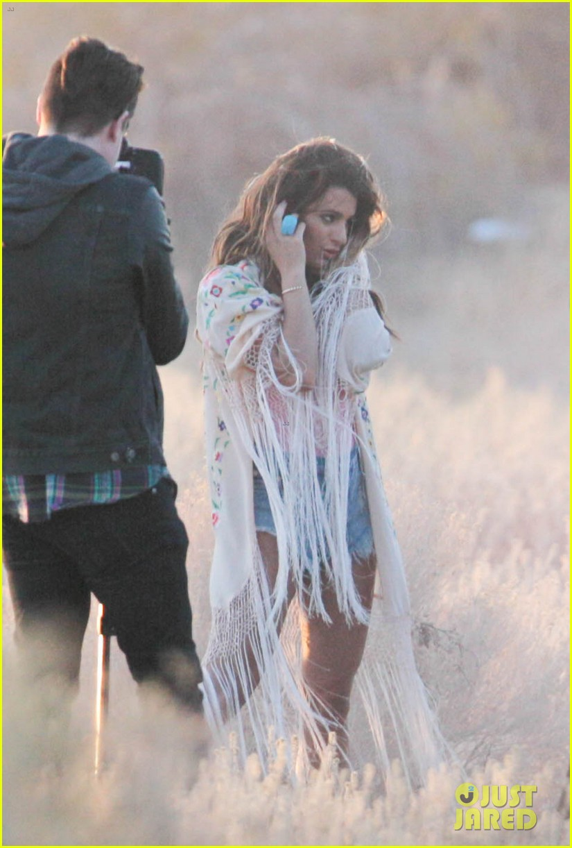 lea michele cozy co star music video set 02