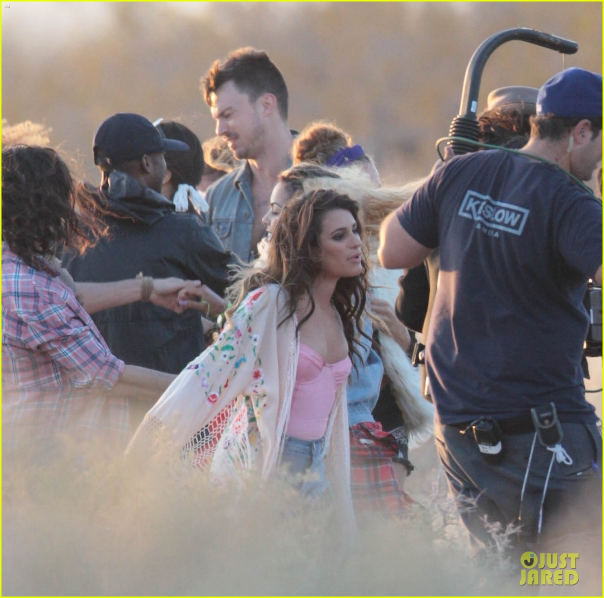 lea michele cozy co star music video set 243095730