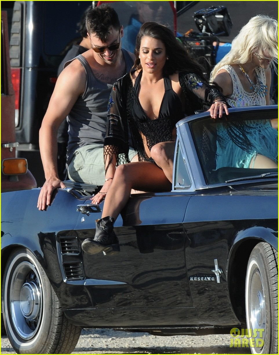 lea michele bikini on my way music video shoot 123095560