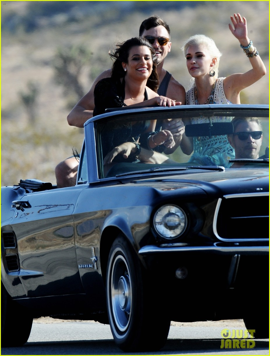 lea michele bikini on my way music video shoot 25