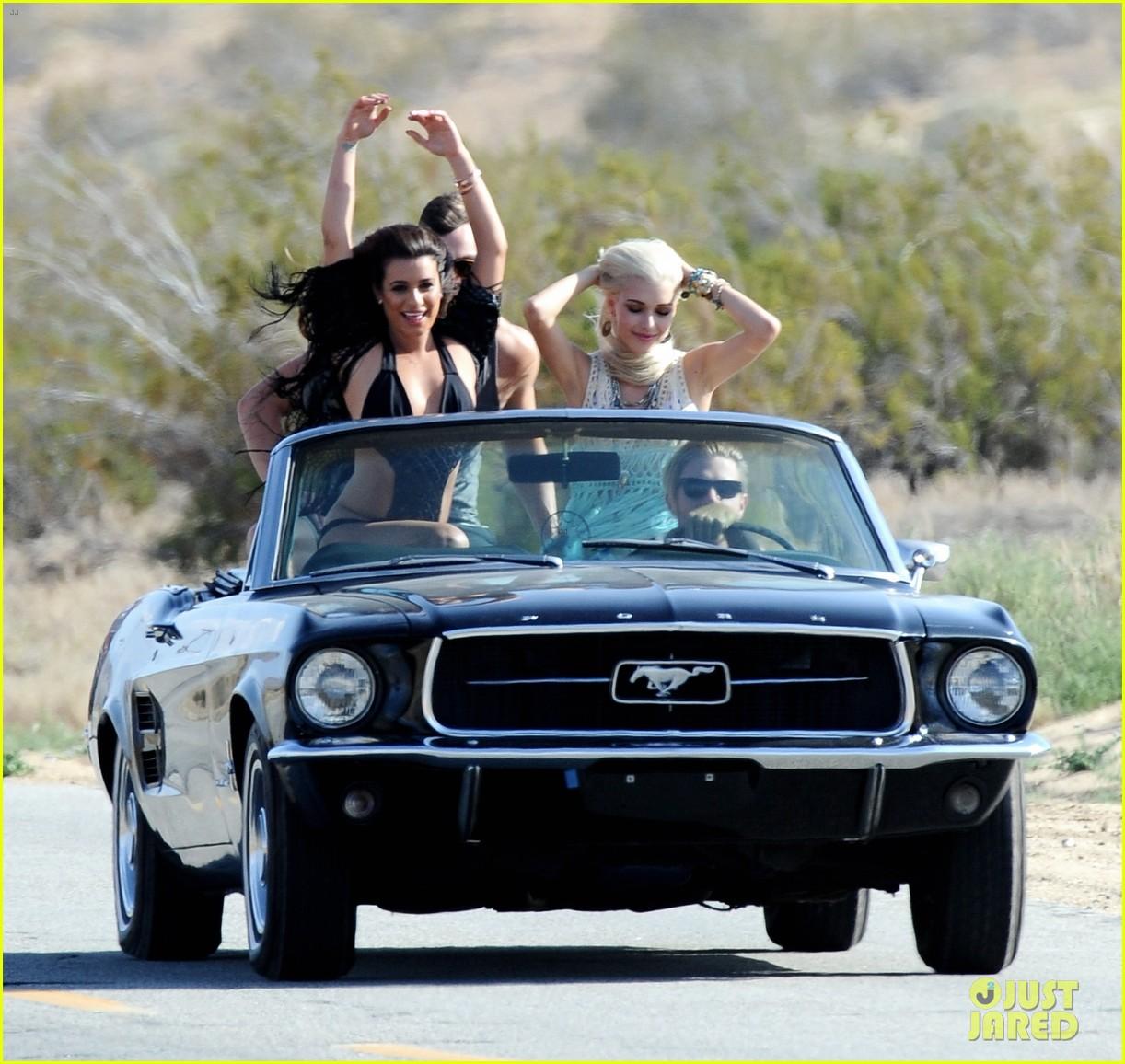 lea michele bikini on my way music video shoot 35