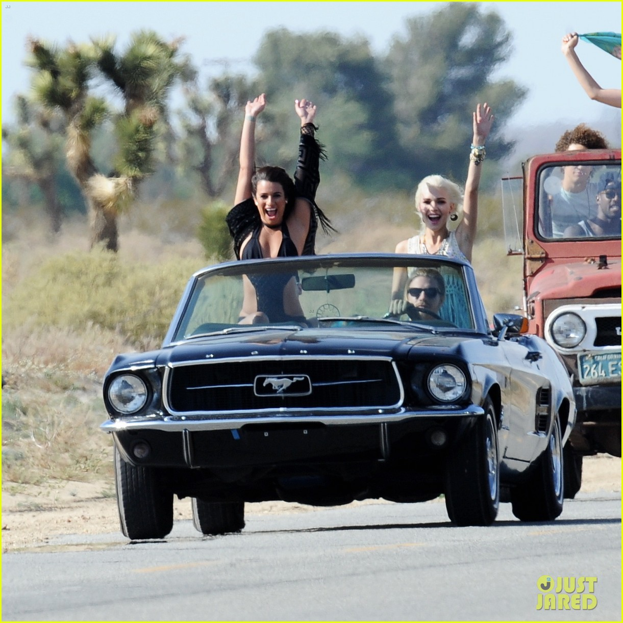 lea michele bikini on my way music video shoot 39