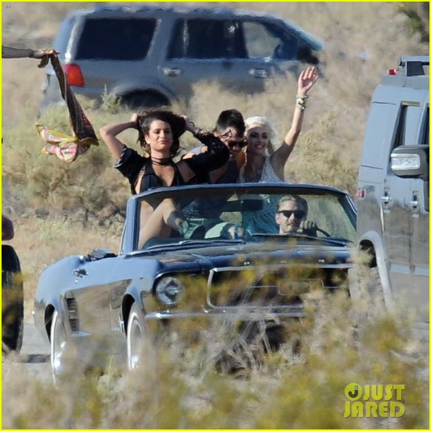 lea michele bikini on my way music video shoot 433095591