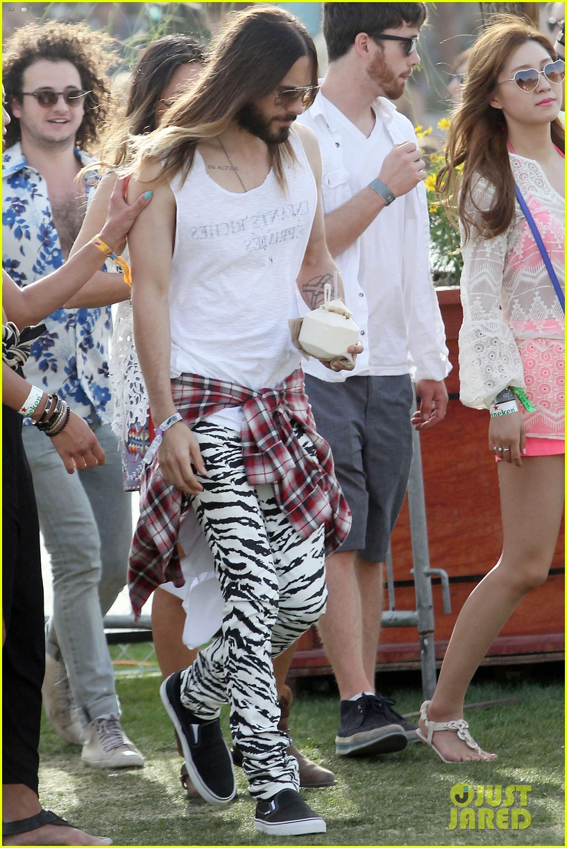 jared leto zebra print pants coachella day two 03
