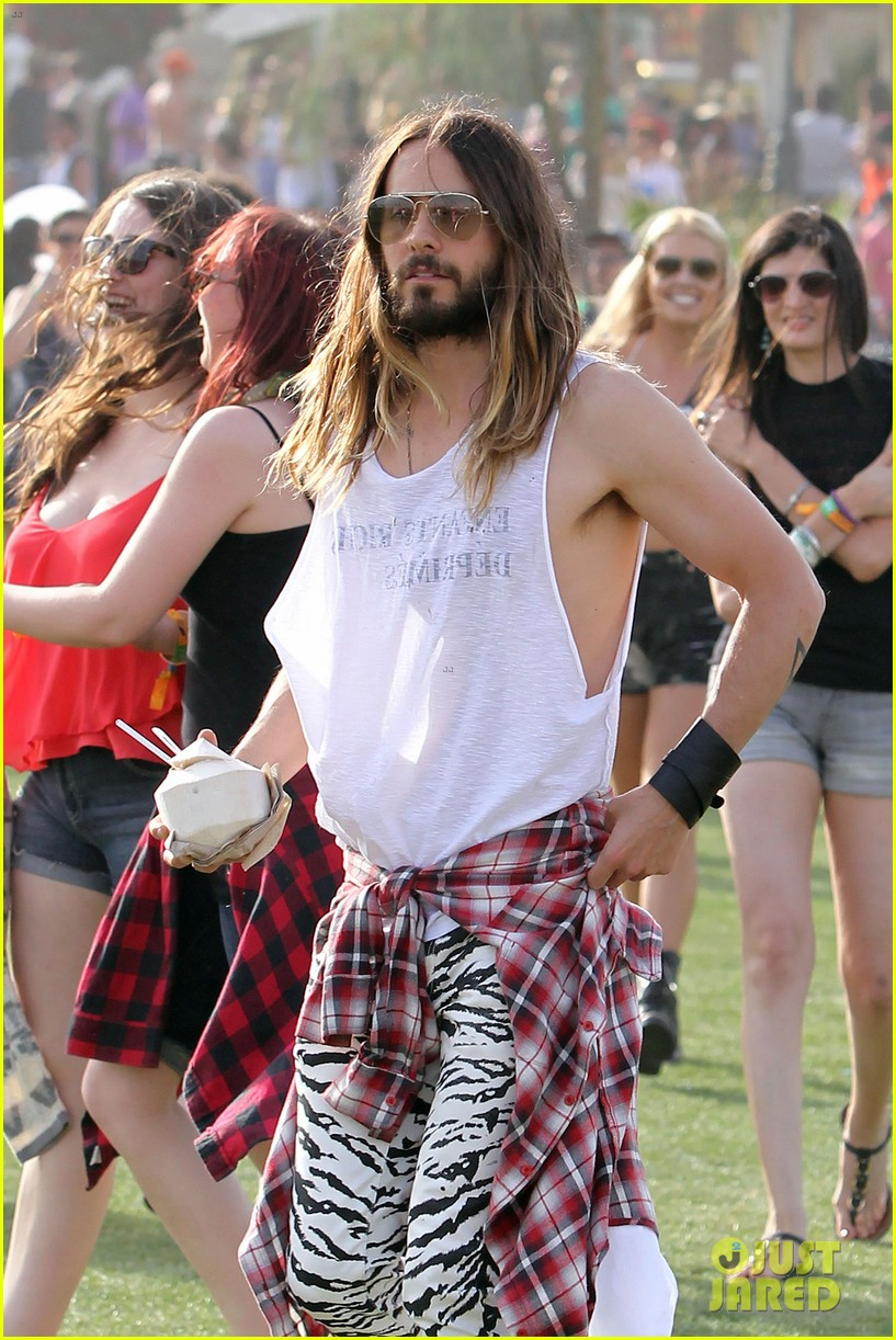 jared leto zebra print pants coachella day two 063090128