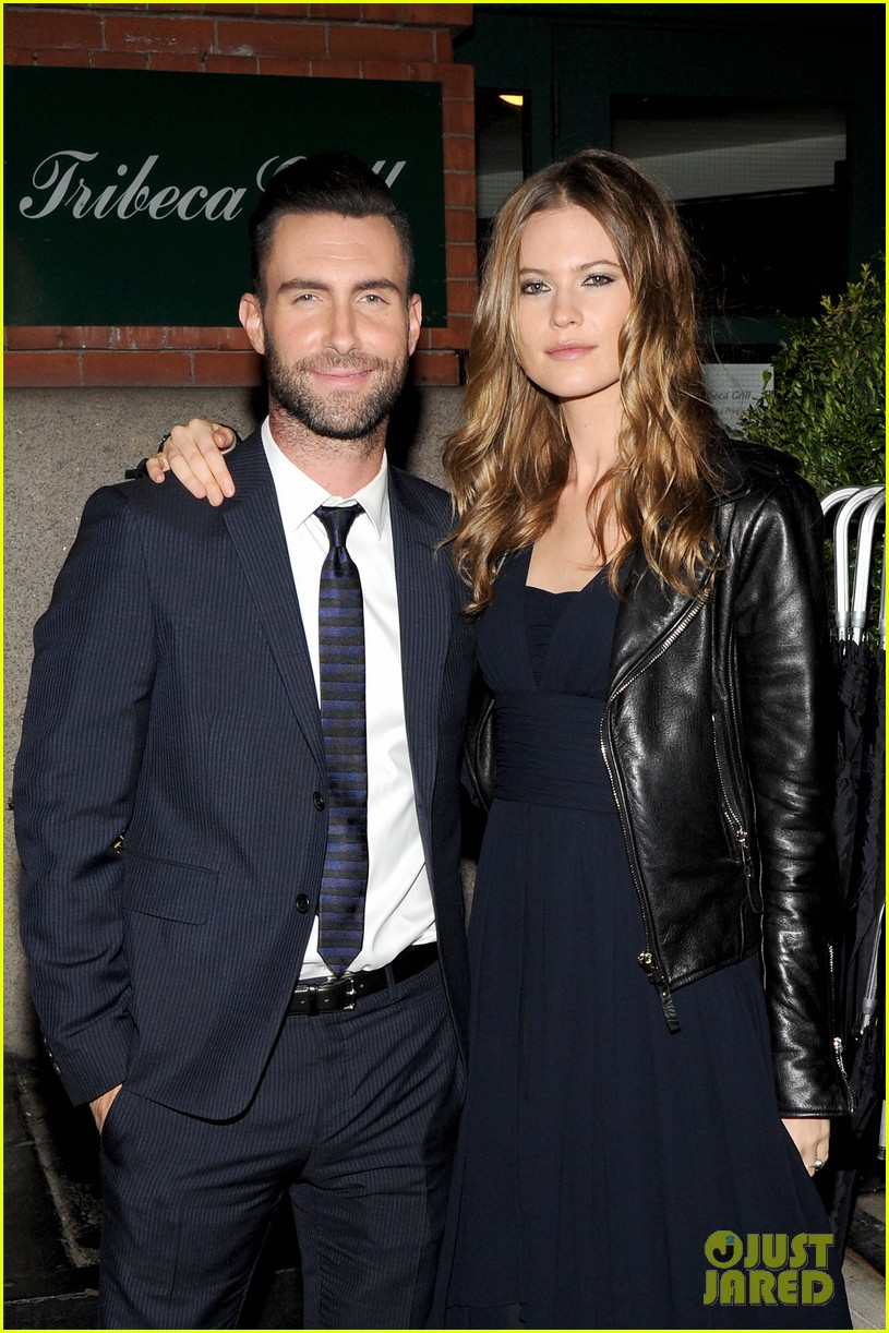 adam levine behati prinsloo party the night away at tribeca 08
