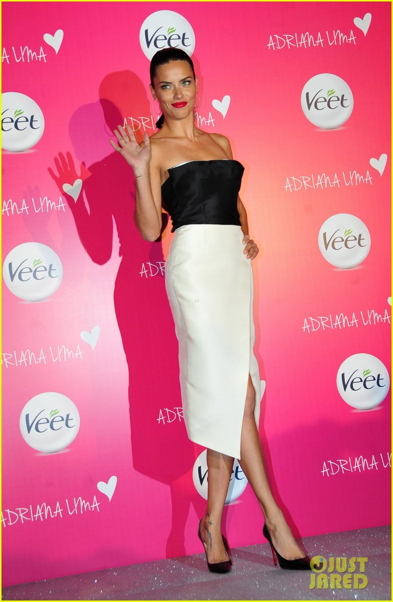 adriana lima drop dead gorgeous at veet launch 103086072