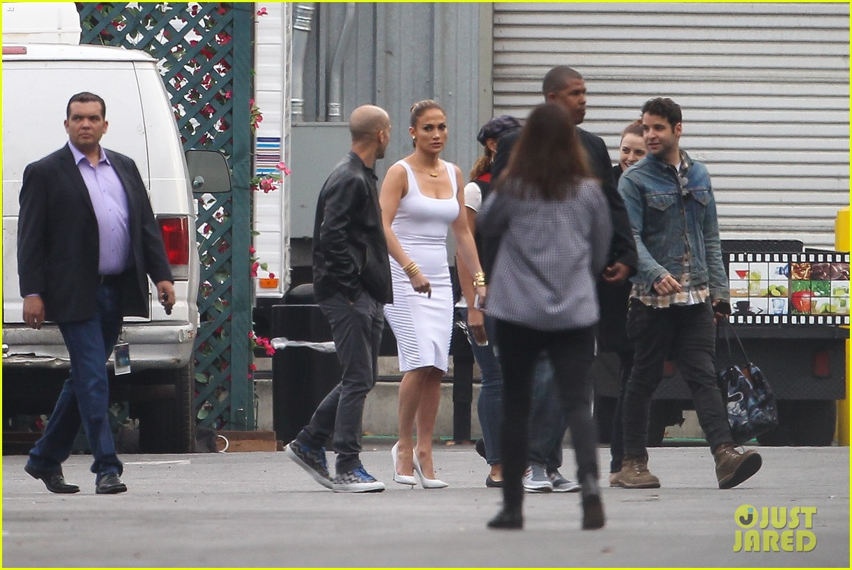 jennifer lopez white hot form fitting dress idol 173088731