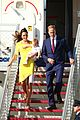 kate middleton changes into yellow dress to arrive in australia 01