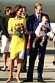 kate middleton changes into yellow dress to arrive in australia 05