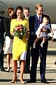 kate middleton changes into yellow dress to arrive in australia 09