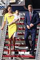 kate middleton changes into yellow dress to arrive in australia 13