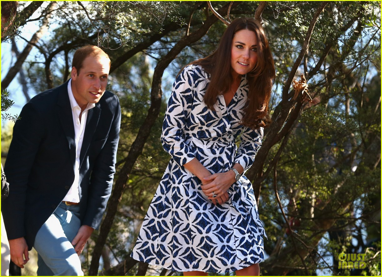 kate middleton prince william plant tree in australia 11