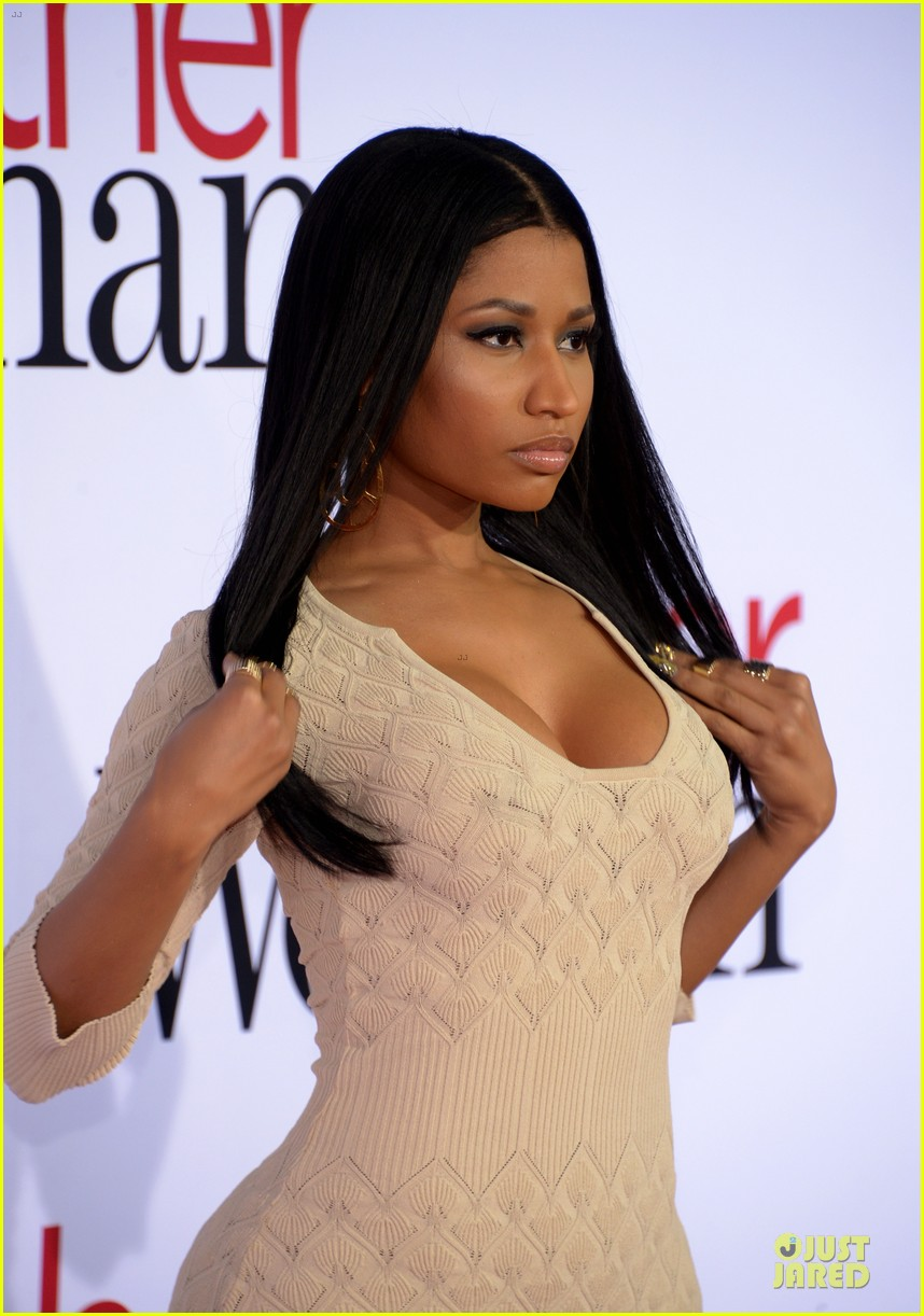 nicky minaj bootylicious at the other woman premiere 10