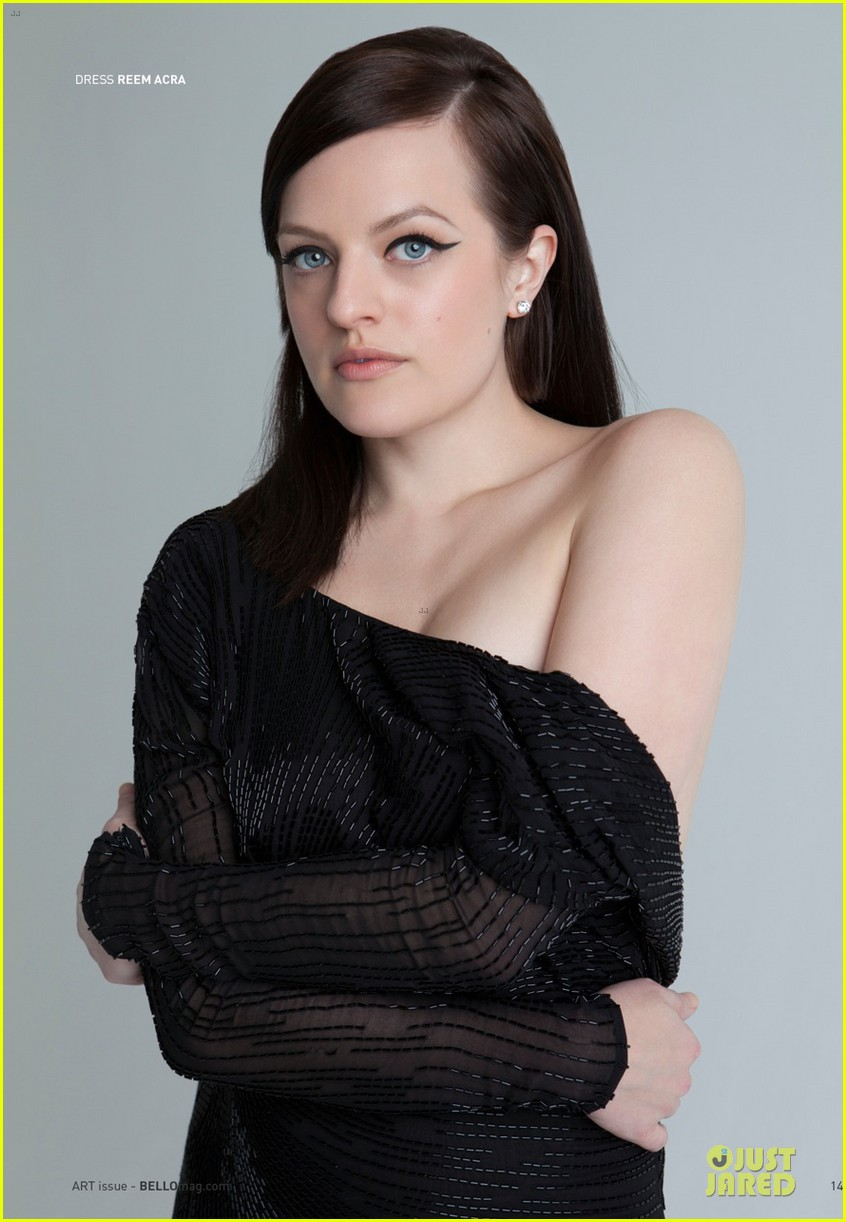 elisabeth moss shows off black bra in sexy top in bello 03
