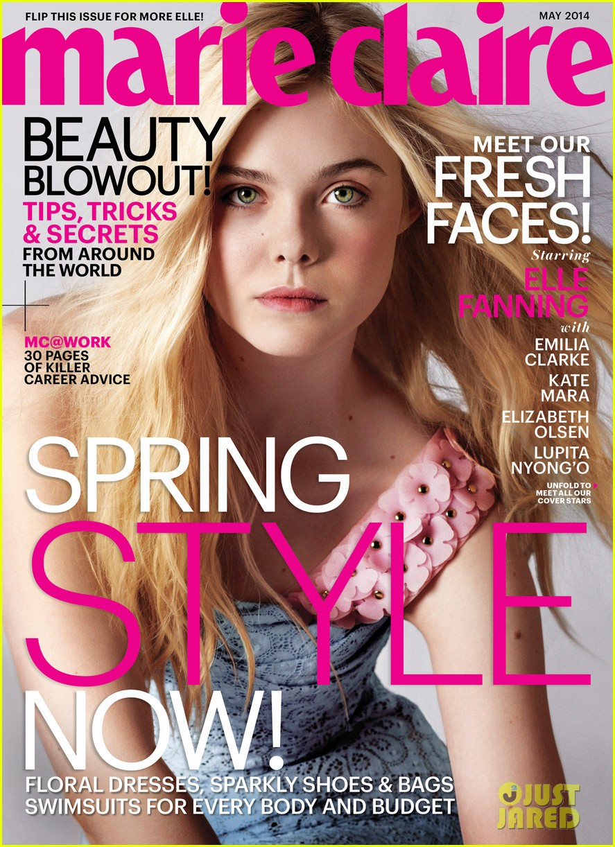 elizabeth olsen elle fanning are shining stars for marie claire may 2014 023087475