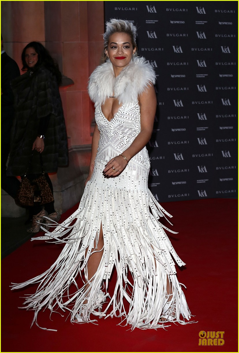 rita ora frills at glamour of fashion exhibition 083083102