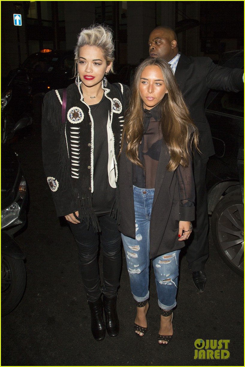 rita ora dines with chloe green at novikov in london 033083833