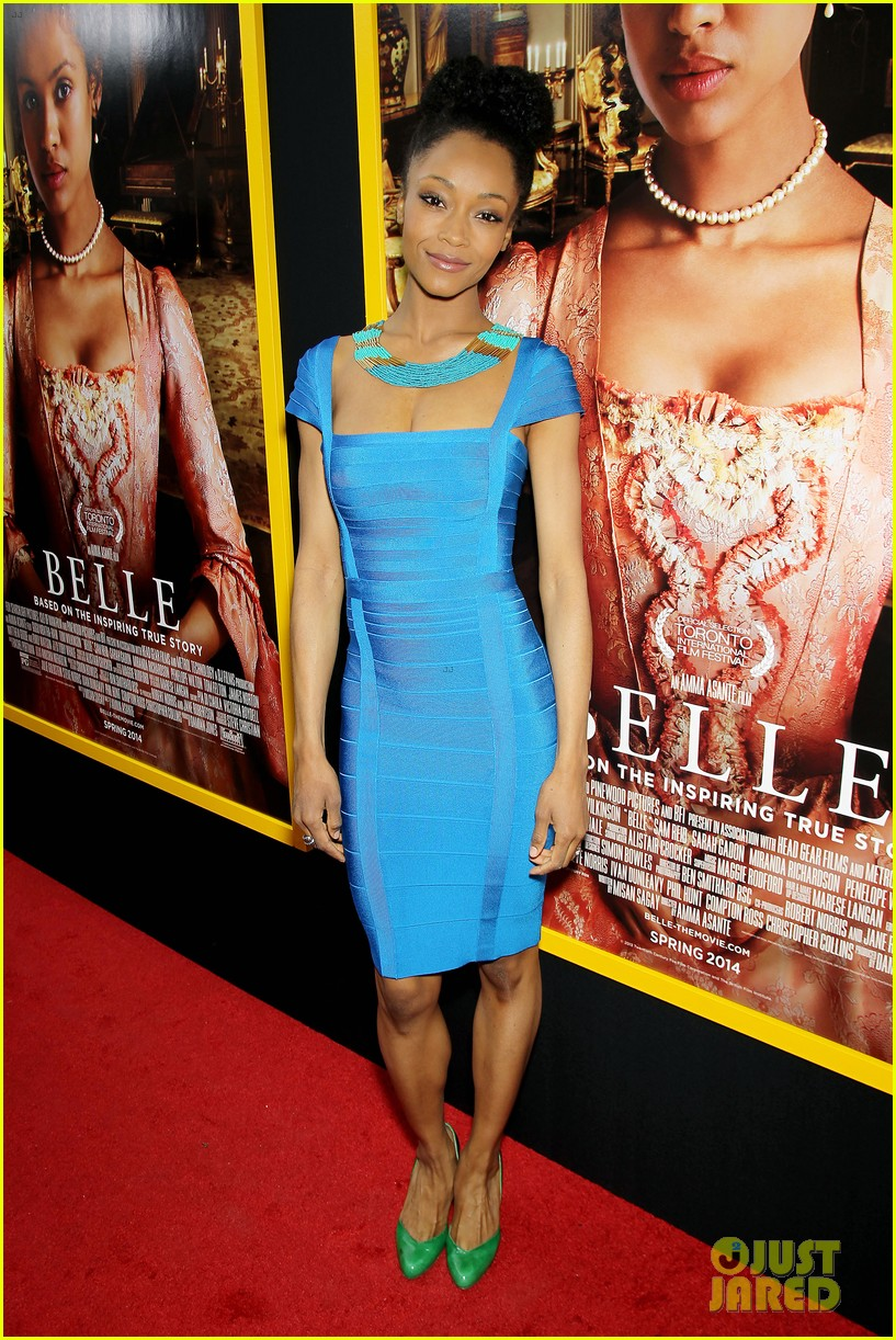 gugu mbatha raw is a green goddess at belle premiere 24