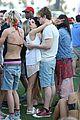 emma roberts evan peters kiss at coachella 17