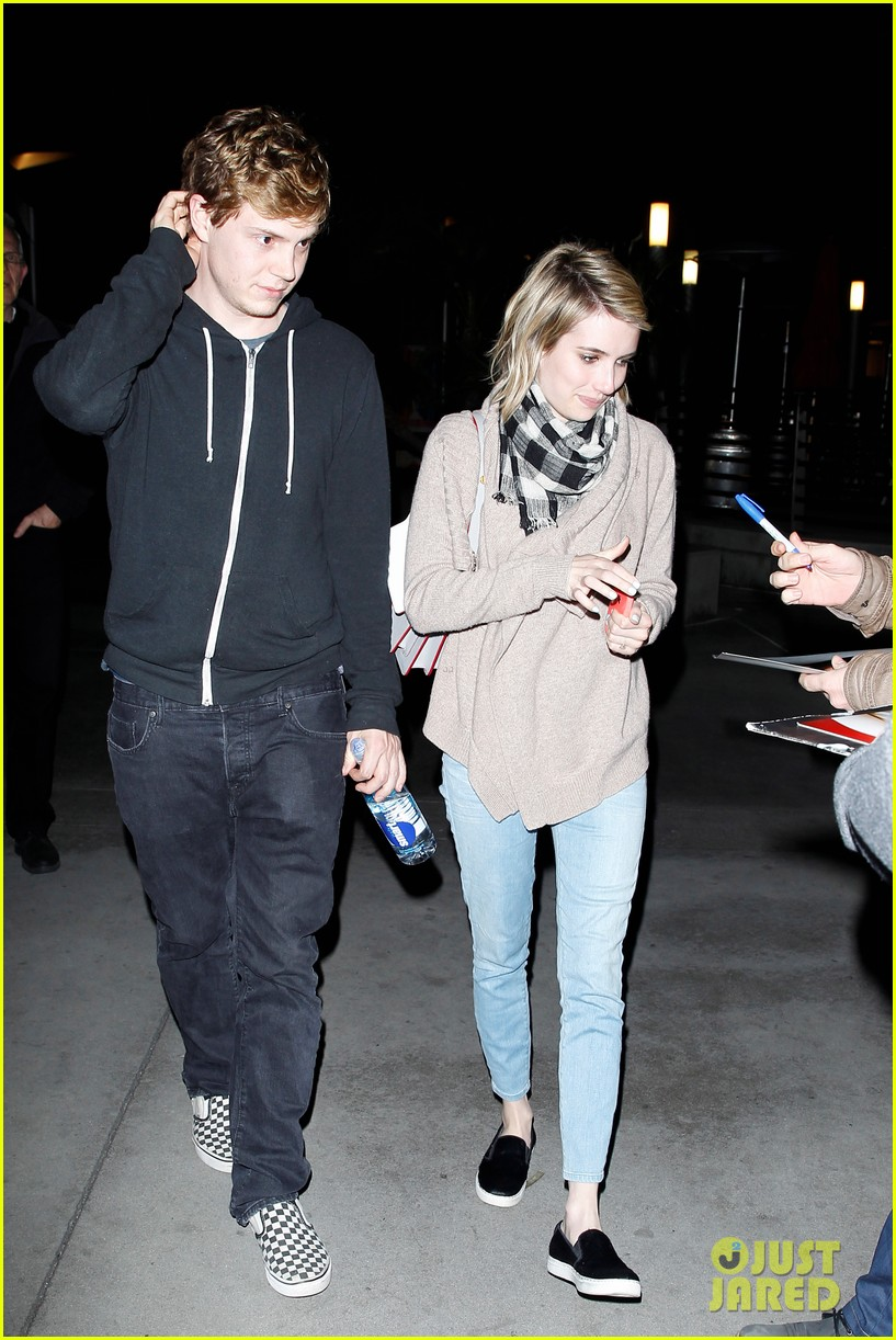 emma roberts evan peters havent started wedding planning just yet 023082909