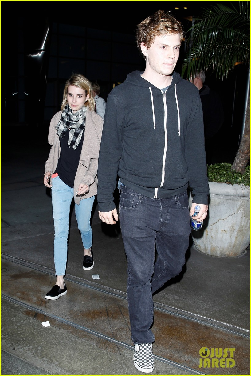 emma roberts evan peters havent started wedding planning just yet 033082910