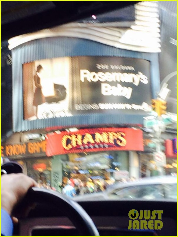 zoe saldana has been posting selfies in front of rosemarys baby billboards 07