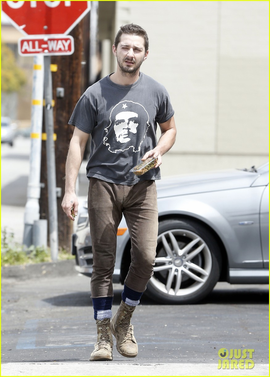 shia labeouf reportedly bought lunch for a homeless man 143094460