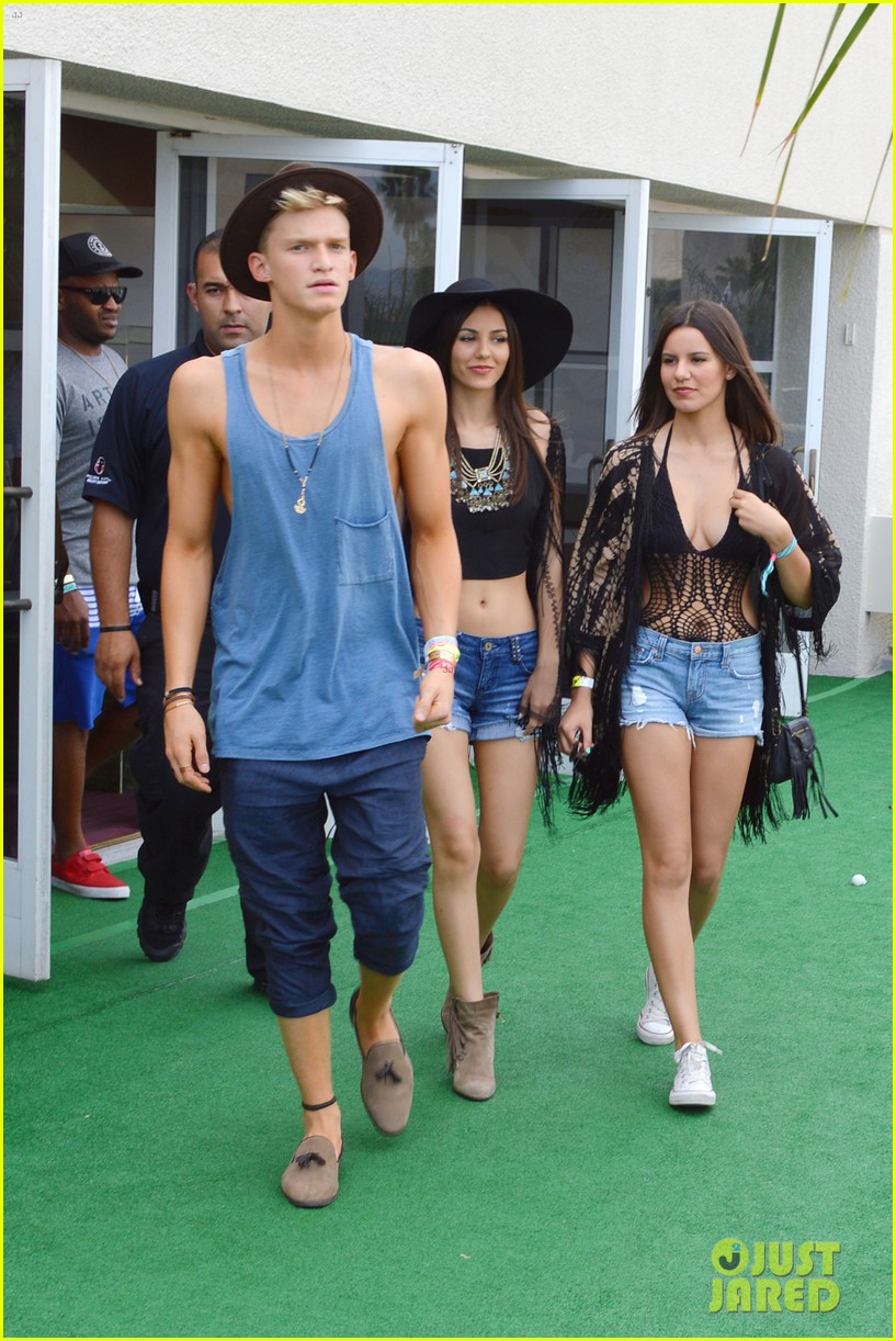 cody simpson meets up with victoria justice at coachella 05